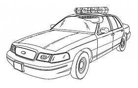 free police car coloring pages print 84785