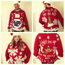 make ugly christmas sweaters homemade cashmere sweater england