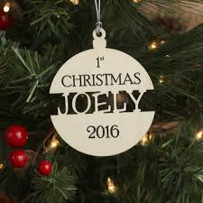 babies first christmas ornament personalized wood christmas