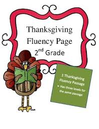 2nd grade thanksgiving fluency passage differentiated by the