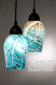 custom blown glass pendant lights turquoise pendant lighting turquoise speckled hand blown glass by
