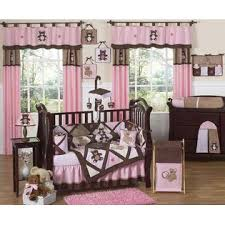 sweet jojo designs teddy bear pink collection 9pc crib bedding set