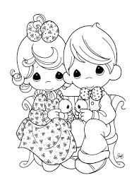free precious moments cartoon coloring books kids printable