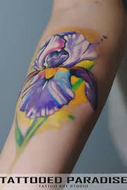 leg flower tattoos 40 wonderful iris flower tattoos