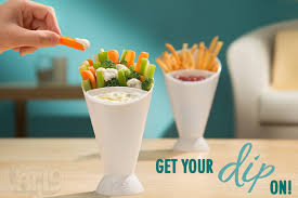 French Fry Dipping Cone Dip and devour finger foods