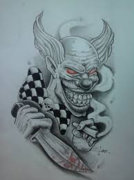 gangster clown tattoos designs gangster clown tattoo designs