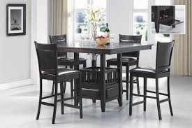 Counter Height Dining Room Furniture 5 Counter Height Dining Set In Rich Cappuccino Finish By