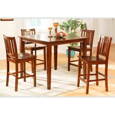 casual dining set f2254 u2013 counter height u2013 cherry finish u2013 jc