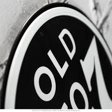 jack daniels whiskey no 7 round tin sign bar signs retroplanet com close