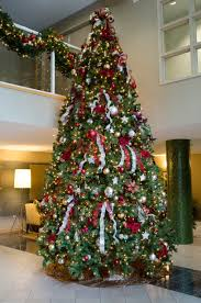 14 foot artificial tree designed by deko for a high rise in