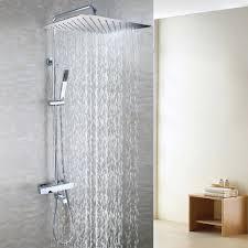 popular bath mixer valve buy cheap bath mixer valve lots from 55x35 cm ultra thin rain shower head brass hand shower holder thermostatic bath mixer valve