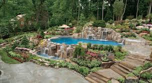 Tropical Landscape Ideas by Tropical Landscape Design Around Pool Articlespagemachinecom