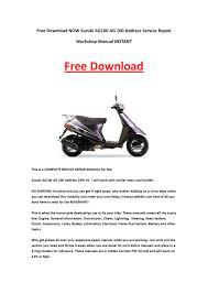 download now suzuki ag100 ag 100 address service repair workshop