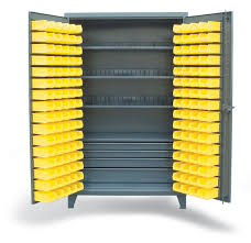 Cabinets With Locking Doors by Strong Hold Products Full Width Drawer Cabinet With Bins And