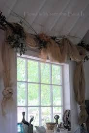 Shabby Chic Valance by Shabby Chic Country Cottage Chic Farmhouse Rustic Burlap Window