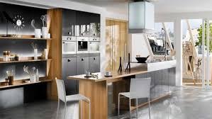 Futuristic Kitchen Design Gray Bar Stools Modern Futuristic Kitchen Design Latest Trends