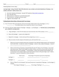 modeling isotopes worksheet relangga com