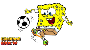 spongebob squarepants football coloring pages for kids youtube