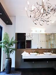 Small Bathroom Chandelier Bathroom Ideas Bathroom Chandeliers With Dark Wooden Pattern