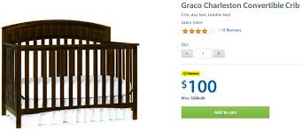 Charleston Convertible Crib Walmart Canada Clearance Deals Graco Charleston Convertible Crib