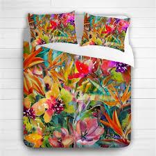 3d photo print rainbow flowers duvet cover set viber cushion cover