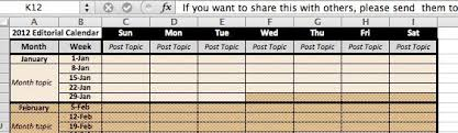 free editorial calendar template download for your blog 2014