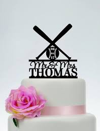 baseball cake topper baseball cake topper wedding cake toppermr and mrs cake