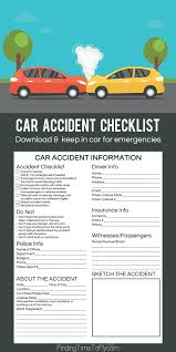 car accident checklist finding time to fly