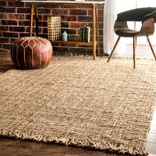 amazon com nuloom natural hand woven chunky loop jute area rug 5