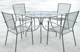 Mesh Patio Table Mesh Patio Chairs Wire Outdoor Chair Easy Chair Black By