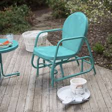 Outdoor Glider Rocker by Outdoor Patio Glider Rocking Chair Retro Swing Vintage Furniture