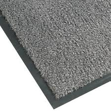 3 x 4 poly plush mat vinyl back charcoal 130 3648 floor