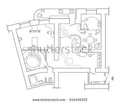 standard home furniture symbols set used stock vector 642406522
