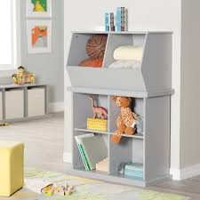 Toy Storage Furniture by Classic Playtime Hopscotch Stackable Toy Storage Gray Hayneedle