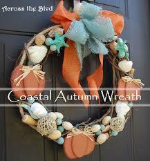going coastal with fall decor coastal fall wreath hometalk