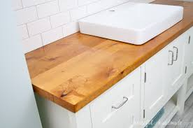Bathroom Vanity Counter Top How To Build Protect A Wood Vanity Top A Houseful Of Handmade