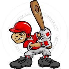 kid baseball player boy batting ball by chromaco toon vectors