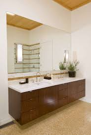 example of floating vanity w side in one corner only design