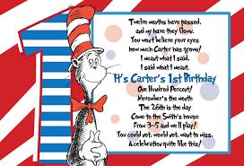 dr seuss 1st birthday invitations cimvitation