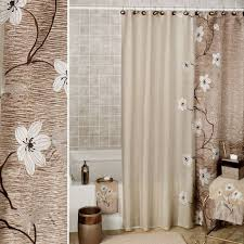 Bath Shower Curtains And Accessories Adorable White Bathroom Shower Curtain With Flower Design Girls