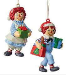 raggedy andy with gifts gift bag ornaments for 2016