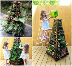 Planters On Wheels by Diy Vertical Pyramid Tower Garden Planter