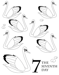 twelve days of christmas coloring page