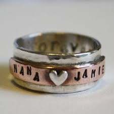 personalized sterling silver jewelry sterling silver rings custom engraved personalized custommade