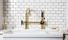gold kitchen faucet unlacquered brass kitchen faucet unlacquered brass wall mount