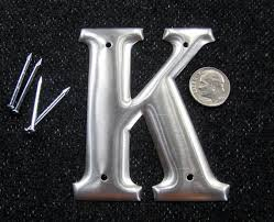 3 metal letters u0026 numbers aluminum with nails