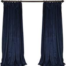 Velvet Blackout Thermal Curtains Blue Velvet Curtains U0026 Drapes You U0027ll Love Wayfair