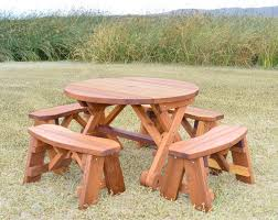 charming picnic table lazy susan round picnic table with