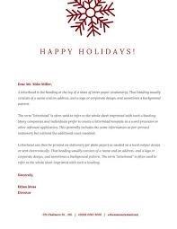 red snowflake christmas letterhead templates by canva