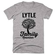 lytle family name reunion gathering surname t shirt products